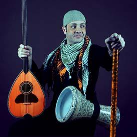 Karim Nagi with instruments