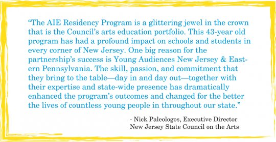 NJ Arts Council quote for AIE