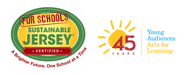 Sustainable Jersey and Young Audiences Logos