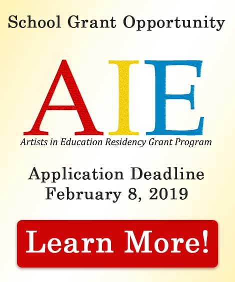 Artist in Education Grant Opportunity ad