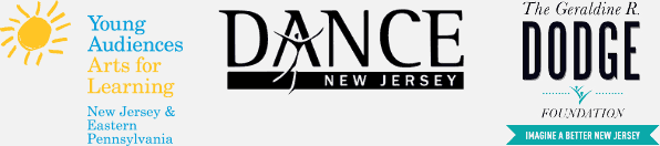 Young Audiences, Dance New Jersey, and G. R. Dodge Foundation Logos