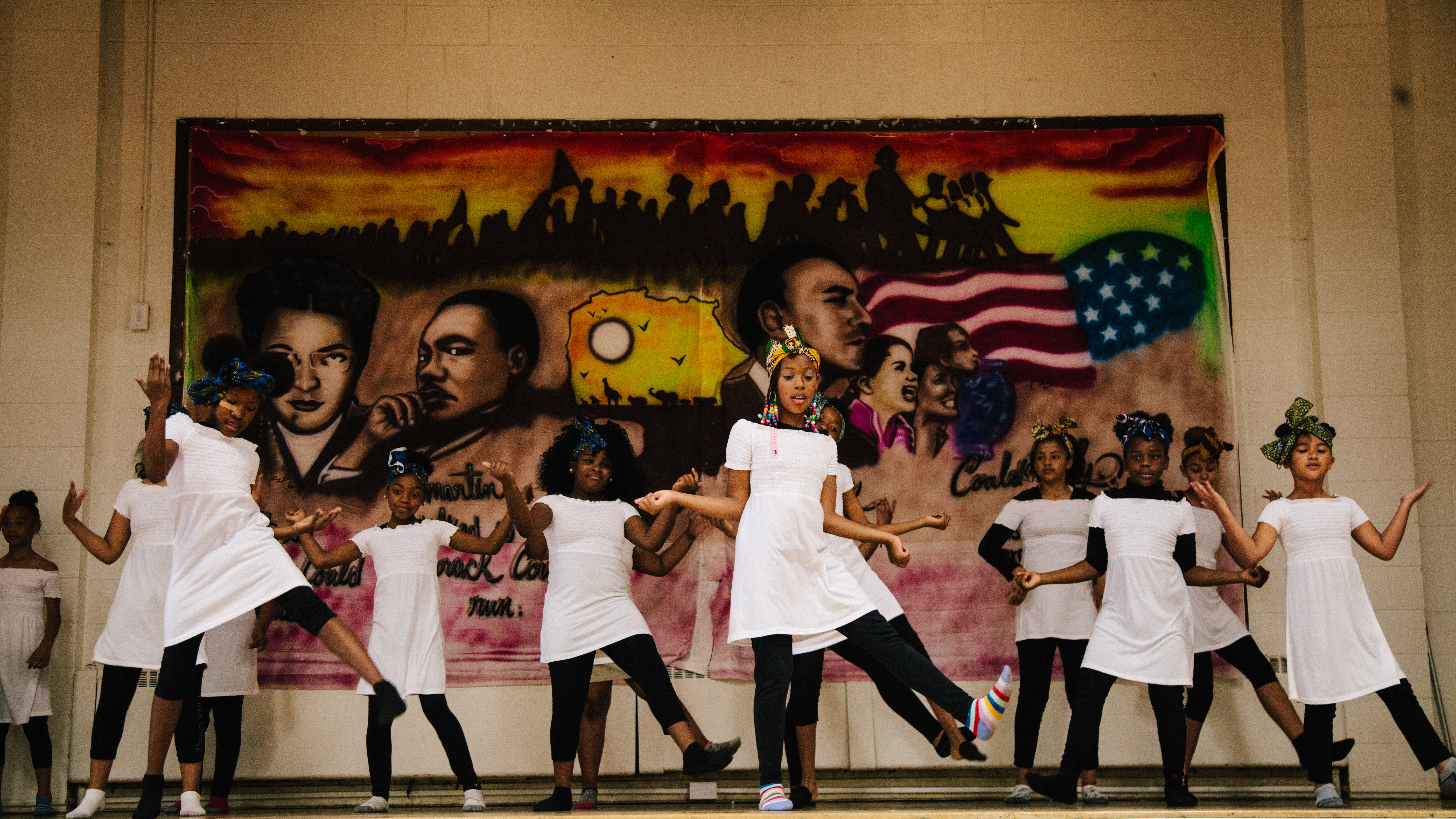 Dance to Learn students at Wiggins Elementary School in Camden, NJ.