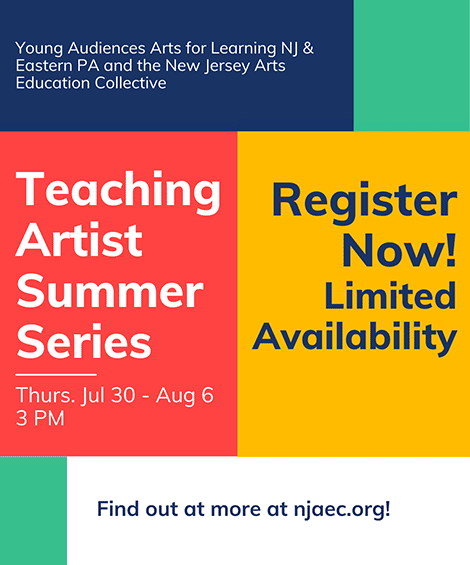 Teaching Artist Summer Series Ad