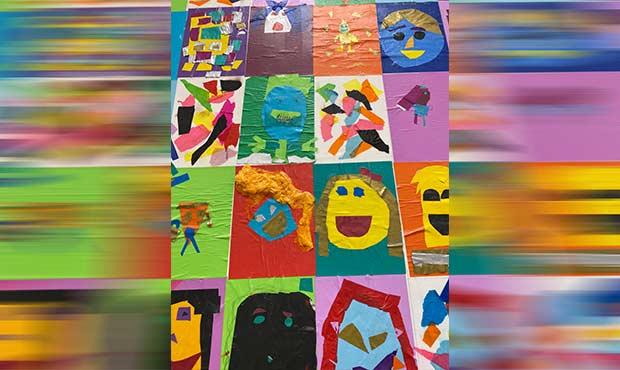 Image of Mural from Working Together Makes Us Whole Workshop by Molly Gaston Johnson