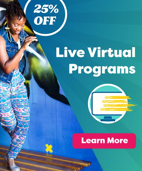 Advertisement for Live Virtual Programs from Young Audiences