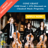 $500 Cone Grant Available for Classical Music
