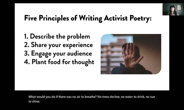 Poetry as Activism Workshops - Summer Dawn