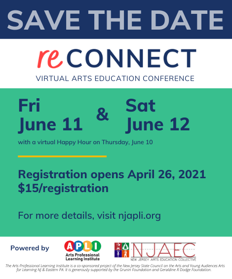 reConnect Virtual Arts Education Conference June 12 2021 Ad
